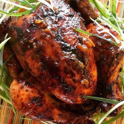 Pollito horneado